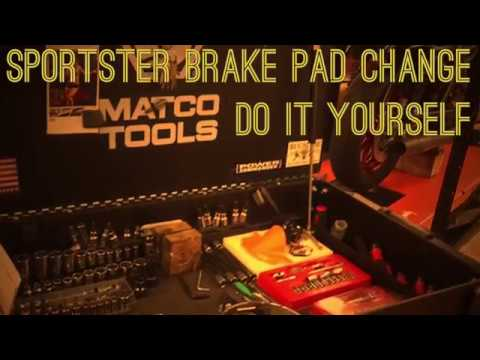 Sportster brake pads! A do it yourself video (1080p)