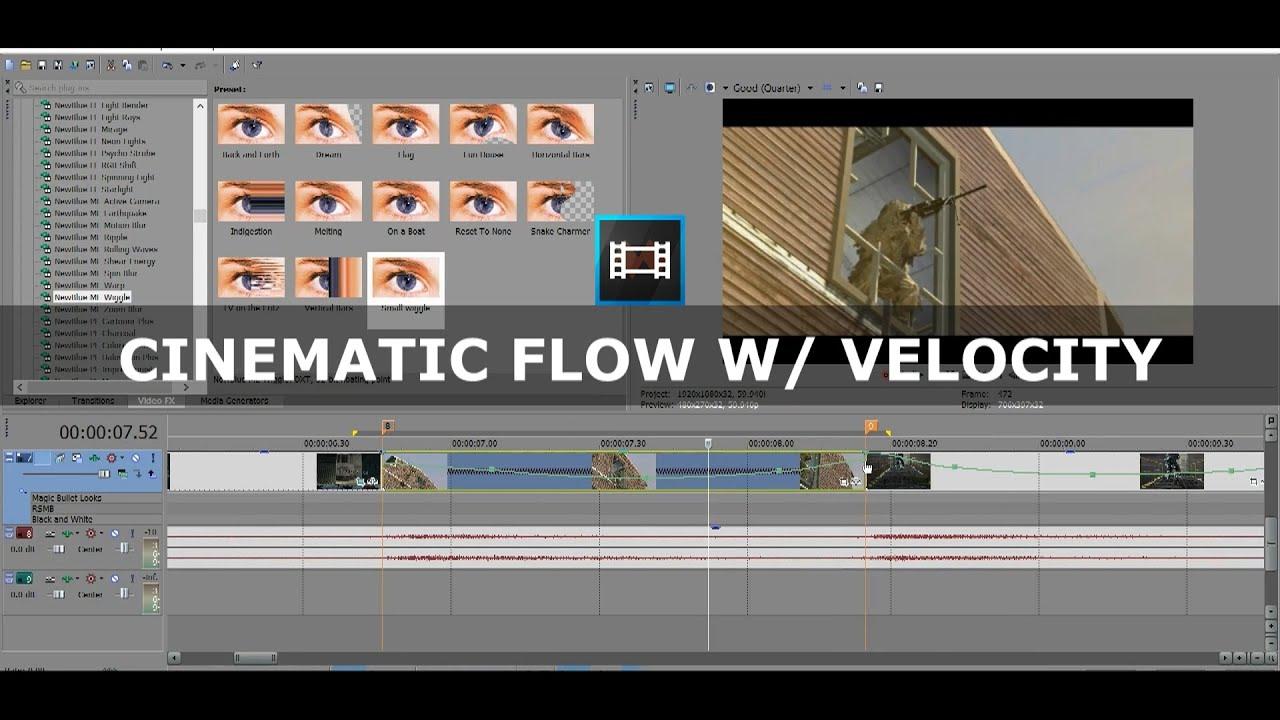 sony vegas how to open velocity