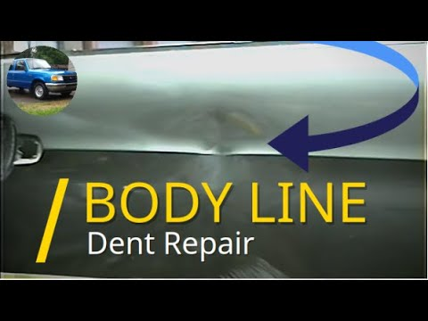 How To Repair A Dent On A Body Line - Pulling, Body Filler / Bondo