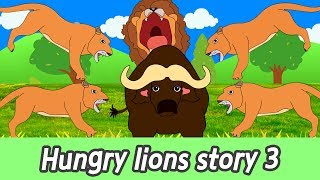 [EN] Hungry lions story 3, animals names for kids, kids english cartoonㅣCoCosToy