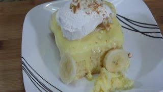 Banana Poke Cake - Desserts