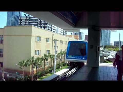 Miami Metromover (Florida, USA) odd transportation!