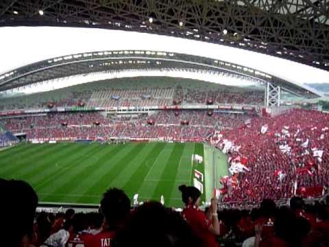 My daughter and Urawa Reds in Saitama Stadium 2OO2