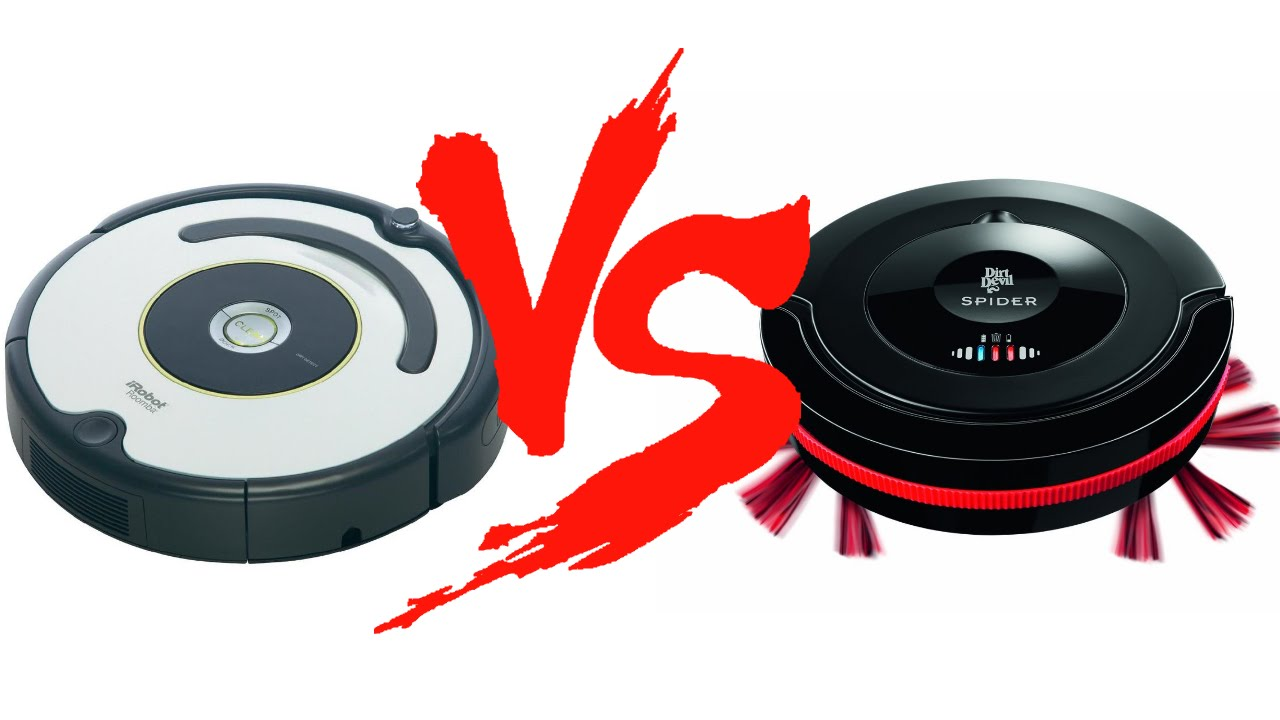 irobot roomba 620 vs dirt devil m607 spider youtube. Black Bedroom Furniture Sets. Home Design Ideas
