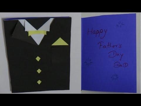 Father's Day Card, Father's Day suit Card, Father's Day tuxedo Card - DIY