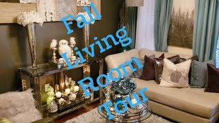 💎🍁🏠Fall Living Room Tour💎🍁#falllivingroomtour (Fall Series)