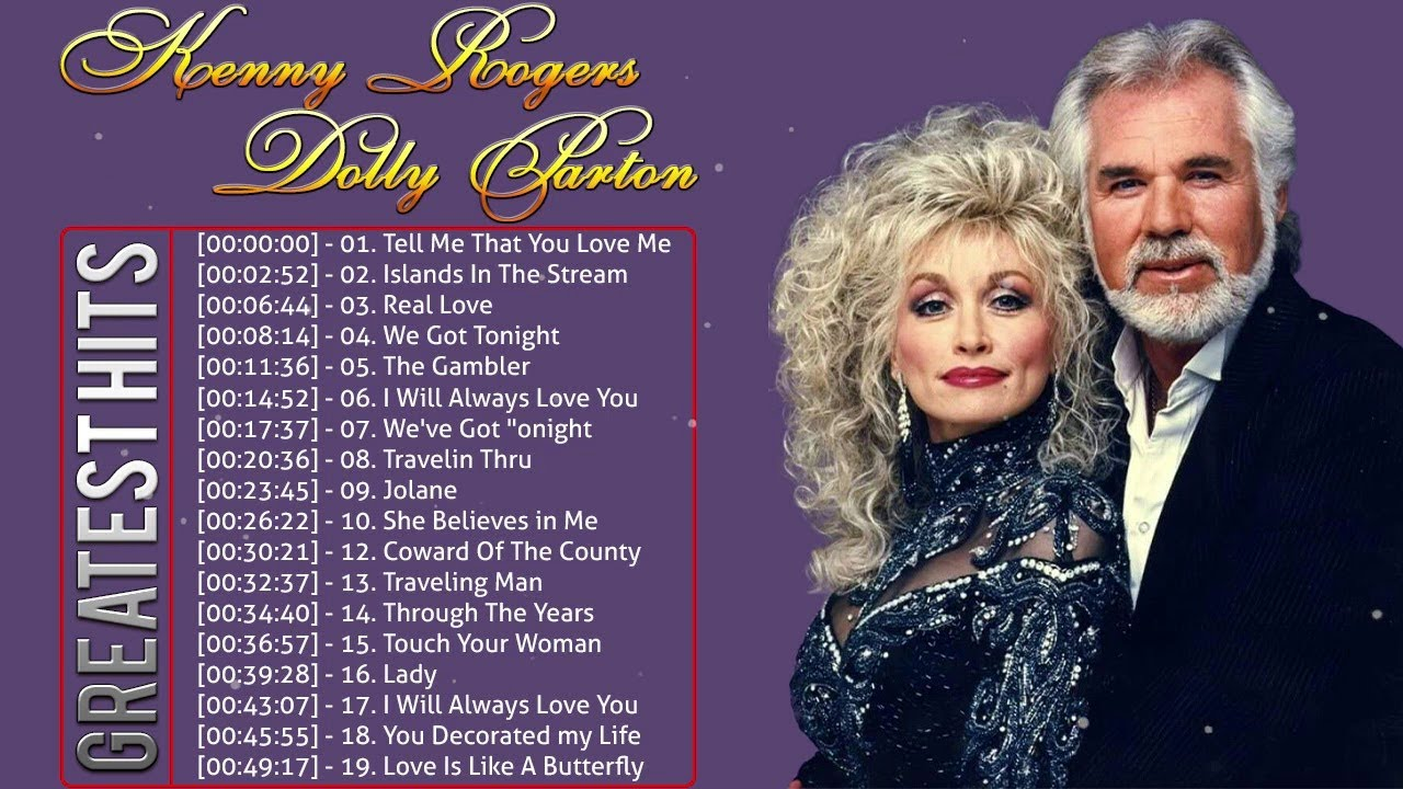 Kenny Rogers, Dolly Parton Greatest Hits Full Album ...