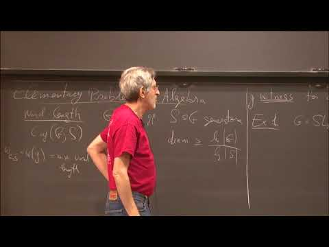 Elementary open problems in Algebra (with consequences in computational complexity) - Avi Wigderson
