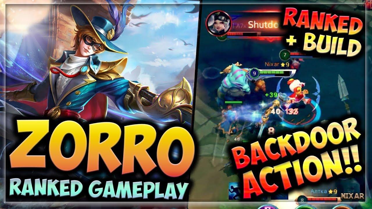 HEROES EVOLVED - ZORRO BUILD | RANKED GAMEPLAY | NEW HERO!!