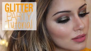 Tutorial | Glittery Bronzed Party Makeup & Hair Tutorial | Kaushal Beauty Thumbnail