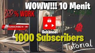 Download Cara Menambah 1000 Subscribers dan 4000 jam Tayang Hanya Dalam 10 Menit Cepat dan Aman Work 100%
