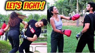 Must Watch - BOXING FIGHT WITH CUTE GIRLS    Himanshu Soni Productions