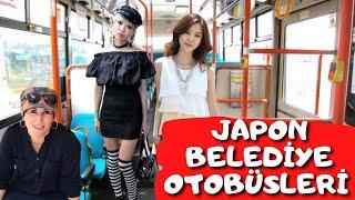 Japonya Osaka'da Belediye Otobüs Sistemi | Japon Halk Otobüsleri | Japon Toplu Taşıma