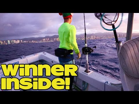Giveaway Winner! | Deep Drop Bottom Fishing In Bad Weather! | Fishing In Hawaii | Shimano Fishing