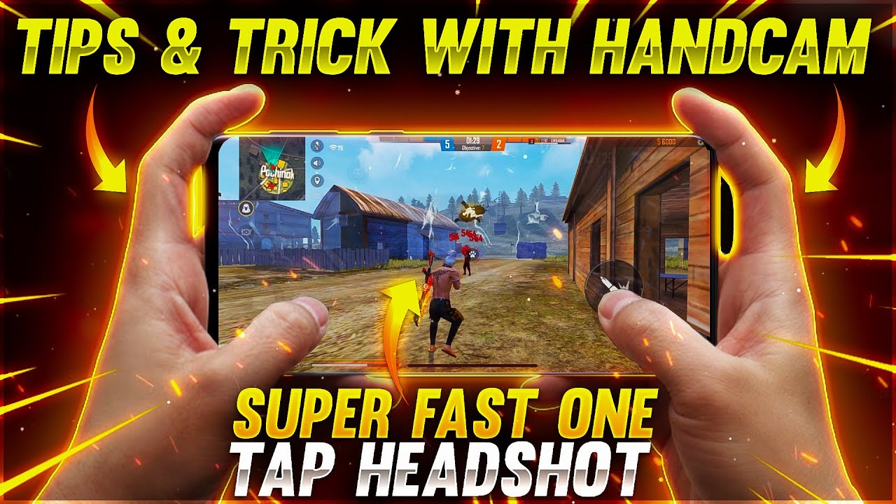 New Close Range Super Fast One Tap Headshot Tips & Trick With Handcam -Garena free fire