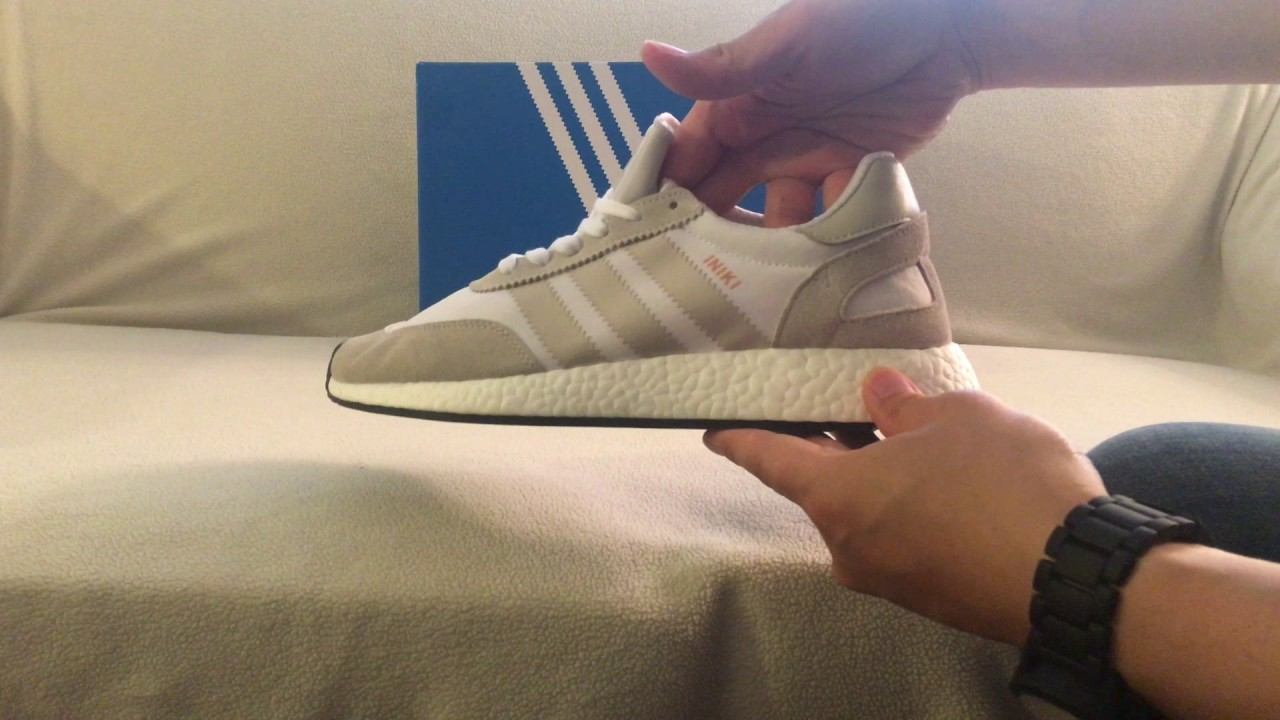 the latest 89c38 df545 Quick Unboxing Adidas Iniki Runner Pearl Grey