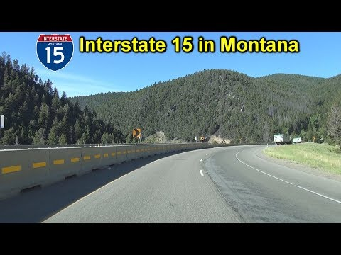 Interstate 15 North from Butte to Helena, Montana