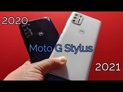 Some Differences I noticed on The Moto G Stylus 2021 vs 2020
