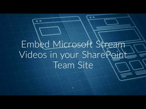 Embed Microsoft Stream Videos In Your SharePoint Team Site