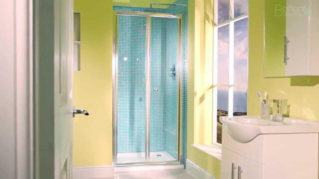 Aquafloe 900 Bi Fold Shower Door - YouTube