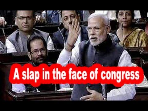 Narendra Modi cracks jokes on congress In Parliament Speech