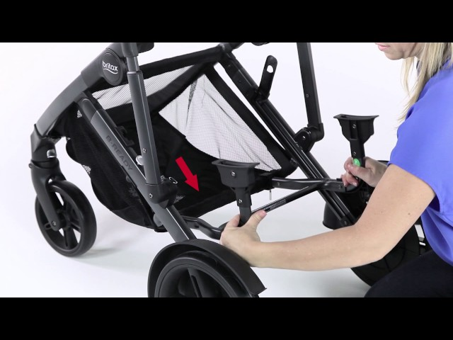 2018 B Ready G3 Stroller, Britax Lower Infant Car Seat Adapter