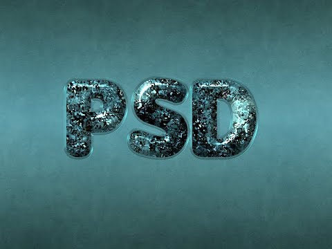 Photoshop Tutorial Glossy Particles Textured Text Effect 2018