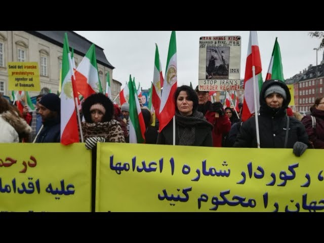 Denmark: Demonstration Against Iran Regime's Human Rights Abuse and Terrorism