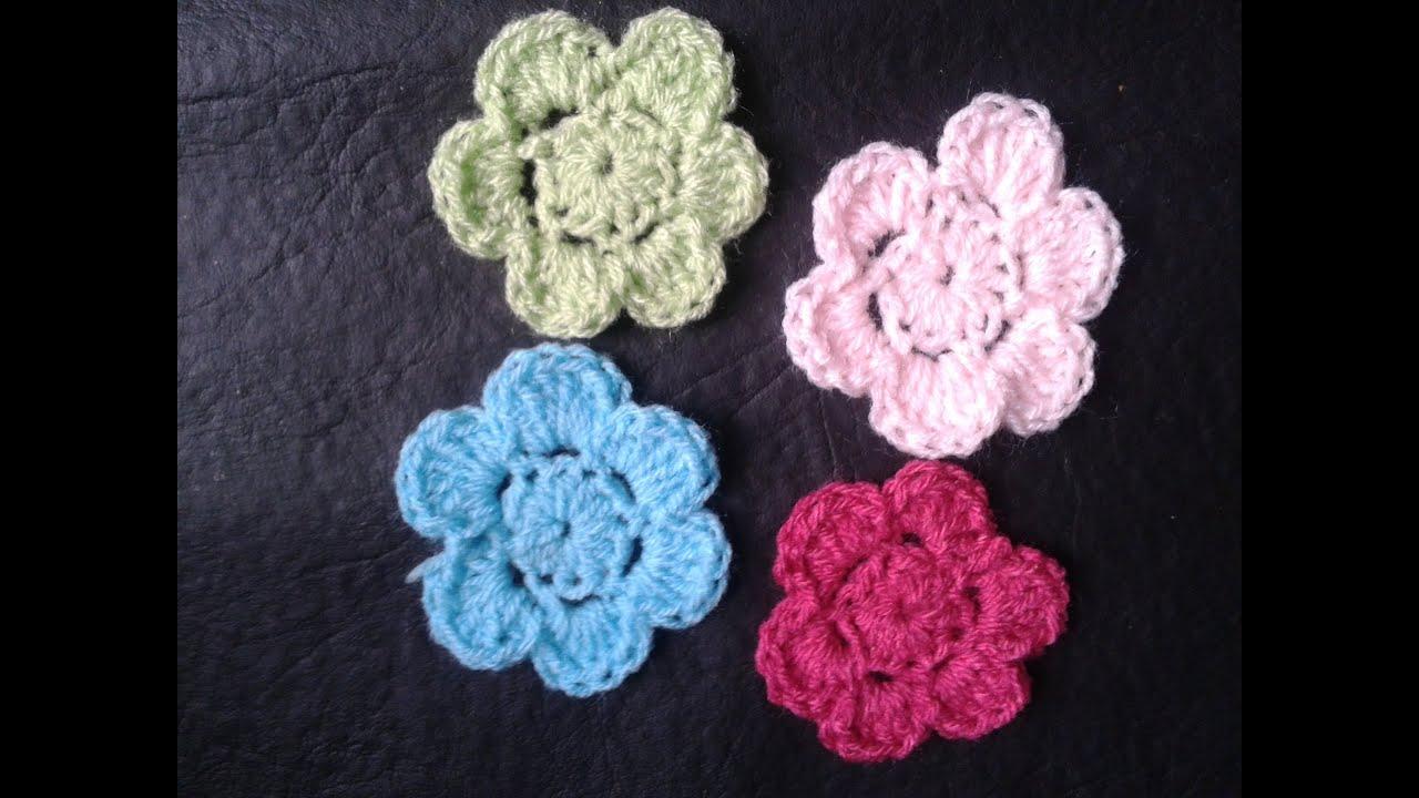 Como hacer flores a crochet Muy faciles Tejemos YouTube
