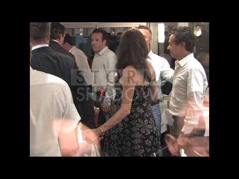Brad Pitt and Angelina Jolie romantic diner at Tetou restaurant