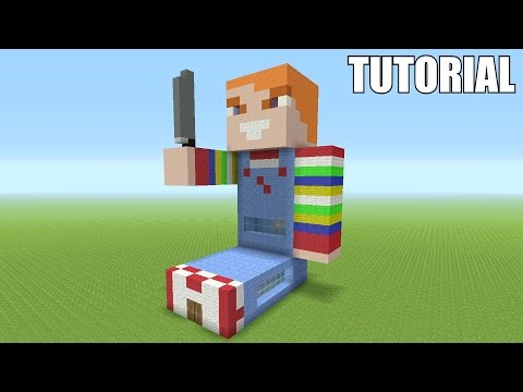 "Minecraft Tutorial: How To Make A KILLER CHUCKY DOLL ""Child's Play""!! (Survival House)"