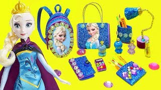 10 Miniature Elsa DIY School Supplies Accessories for Frozen