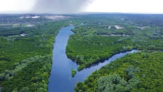 Релаксация. Река Северский Донец. Меловые горы.