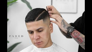 PERFECT COMBOVER SKIN FADE FEATURING AMERICAN CREW!! BARBER TUTORIAL.