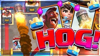 WOW!! The BEST HOG DECK in Clash Royale is easy to use!