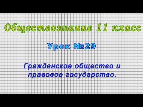 Обществознание 11 класс (Урок№29 - Гражданское общество и правовое государство.)