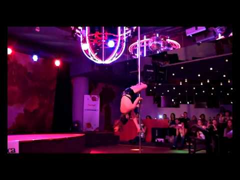 Amazing Jenyne Butterfly in Brno, Czech  8.9.2012  Pole dance Emotion show HQ