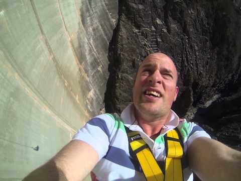 Goldeneye James Bond Bungee - Verzasca Dam, Switzerland - Wrist mounted GoPro HD Camera