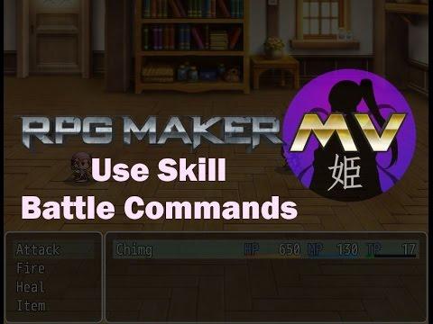 RPGMaker MV: Use Skill Battle Commands