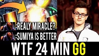 SumiYa Are You Ready? Miracle- Genius Invoker WTF 24 Min GG Next Level Hack Brains Dota 2