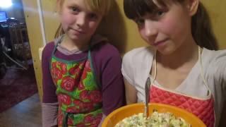 Зимний салат//деревенская жизнь//