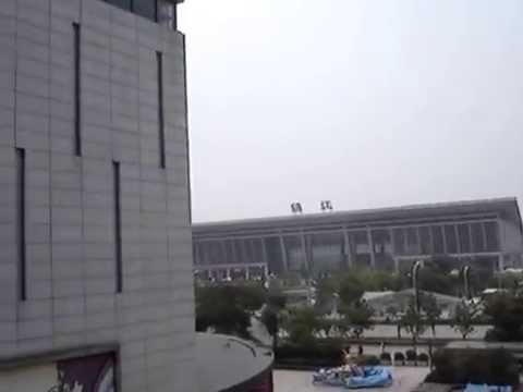 Buses and trains station in Zhenjiang Jiangsu