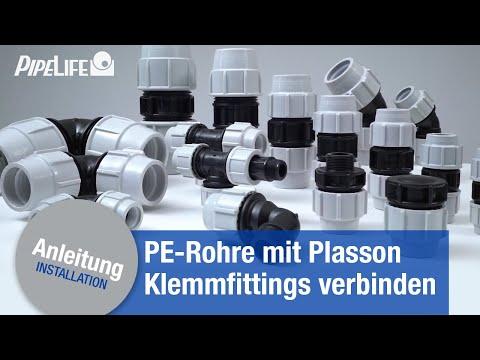 Verbindung Von Pe Rohren Mit Plasson Klemmfittings Youtube