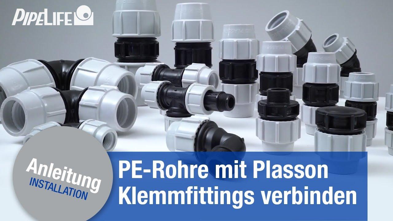 Verbindung Von Pe Rohren Mit Plasson Klemmfittings