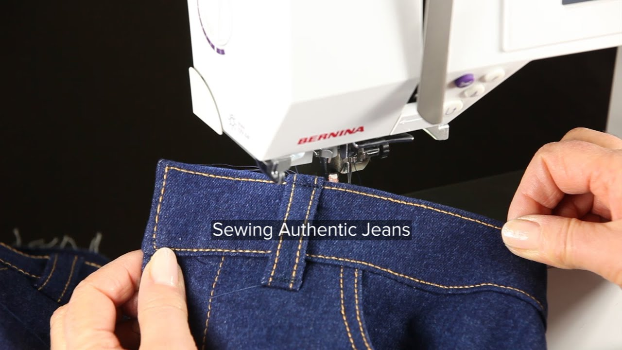 How to sew jeans