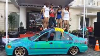 Goyang Hot diatas Mobil Lia cappucino,Nirmala,Tenti Morena,Caca fanesa 2017