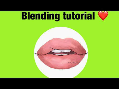 BLENDING LIPS 👄 TUTORIAL + Voice ( MUST WATCH ) on adobe draw