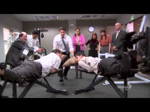 The Office: Dwight and Gabe at the Gym / Sleep over party