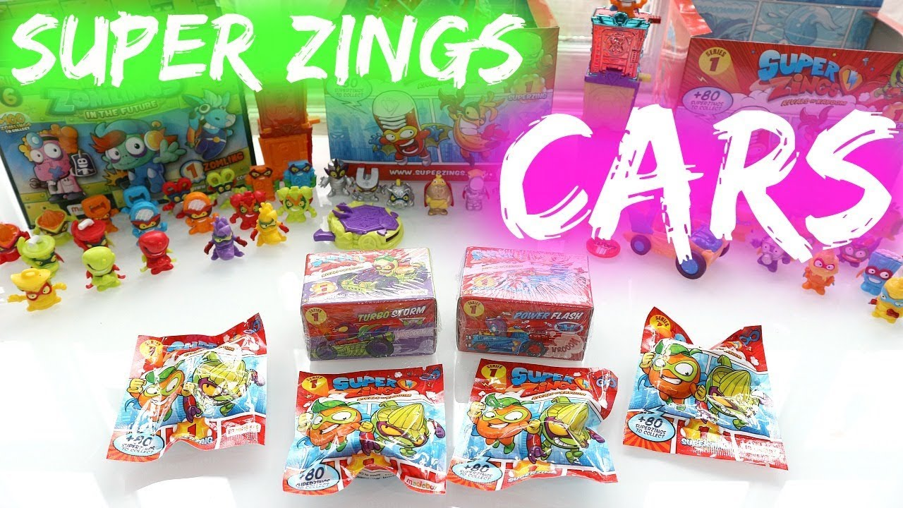 Super Zings Cars Unboxing Youtube