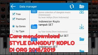 Cara mendownload/menambahkan STYLE DANGDUT KOPLO di ORG 2018/2019